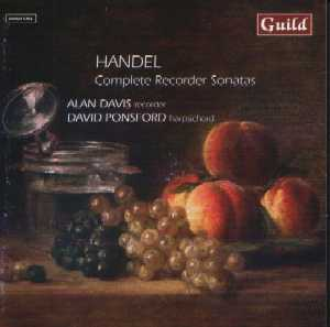 Handel: Complete Recorder Sonatas and harpsichord Suite No 7 - CD Cover